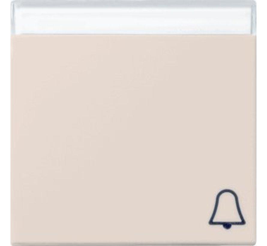 schakelwip tekstkader symbool bel Systeem 55 creme glans (067301)