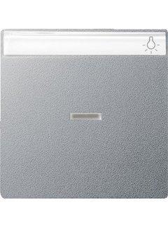GIRA schakelwip controlevenster tekstkader Systeem 55 aluminium mat (067026)