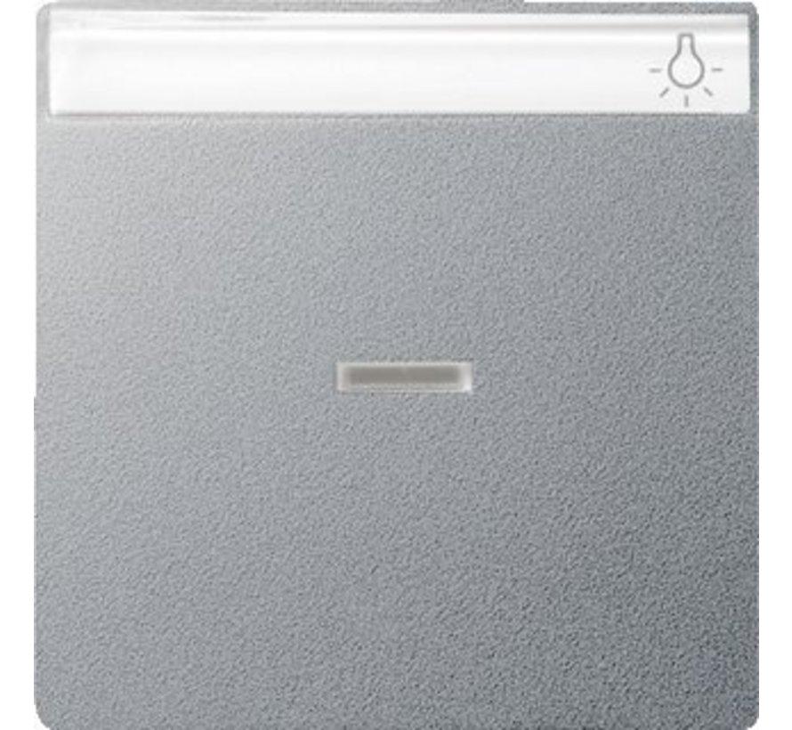 schakelwip controlevenster tekstkader Systeem 55 aluminium mat (067026)