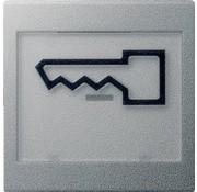 GIRA schakelwip tekstkader groot symbool deur Systeem 55 aluminium mat (021826)