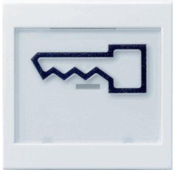 GIRA schakelwip tekstkader groot symbool deur Systeem 55 wit glans (021803)