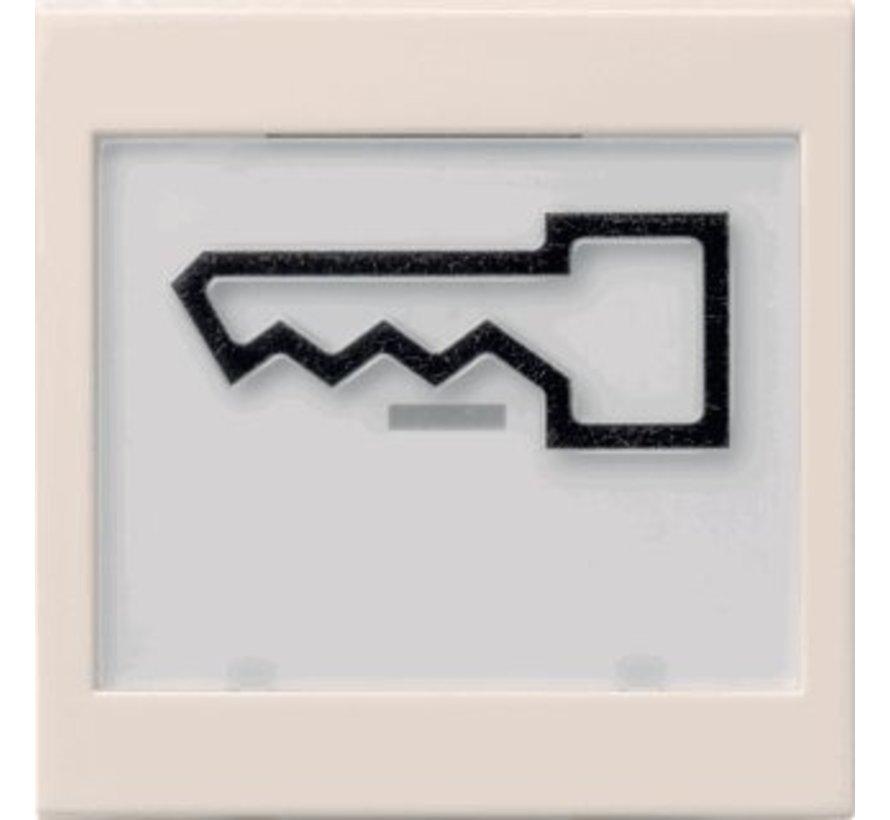 schakelwip tekstkader groot symbool deur Systeem 55 creme glans (021801)