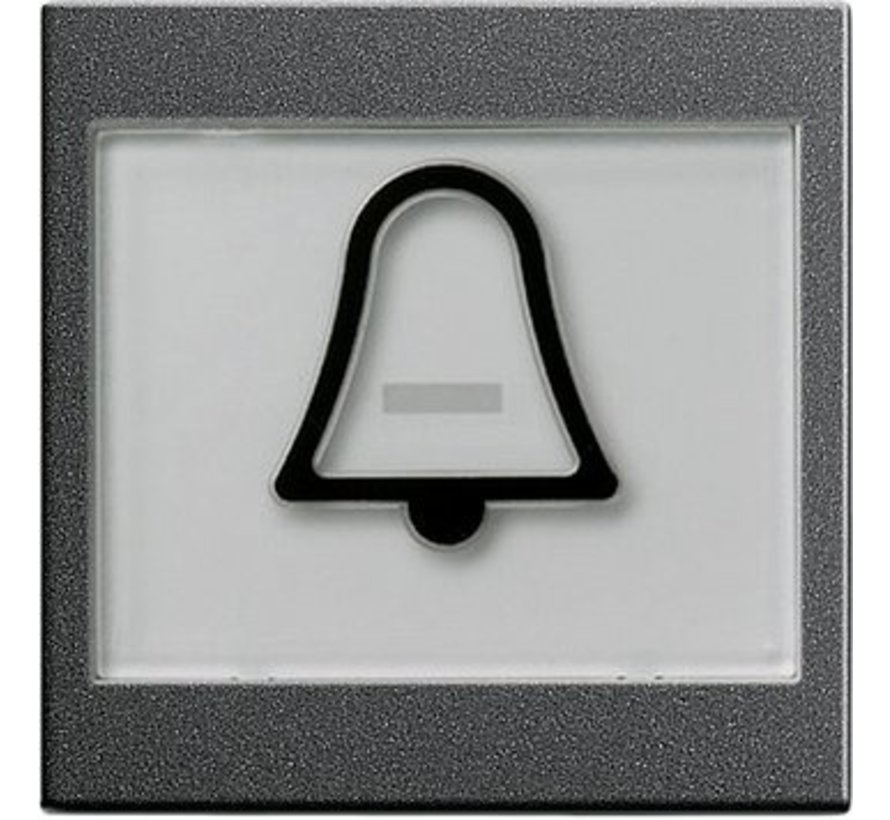 schakelwip tekstkader groot symbool bel Systeem 55 antraciet mat (021728)