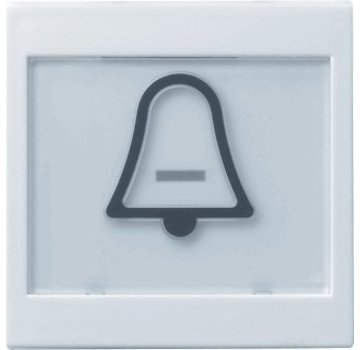 GIRA schakelwip tekstkader groot symbool bel Systeem 55 wit glans (021703)