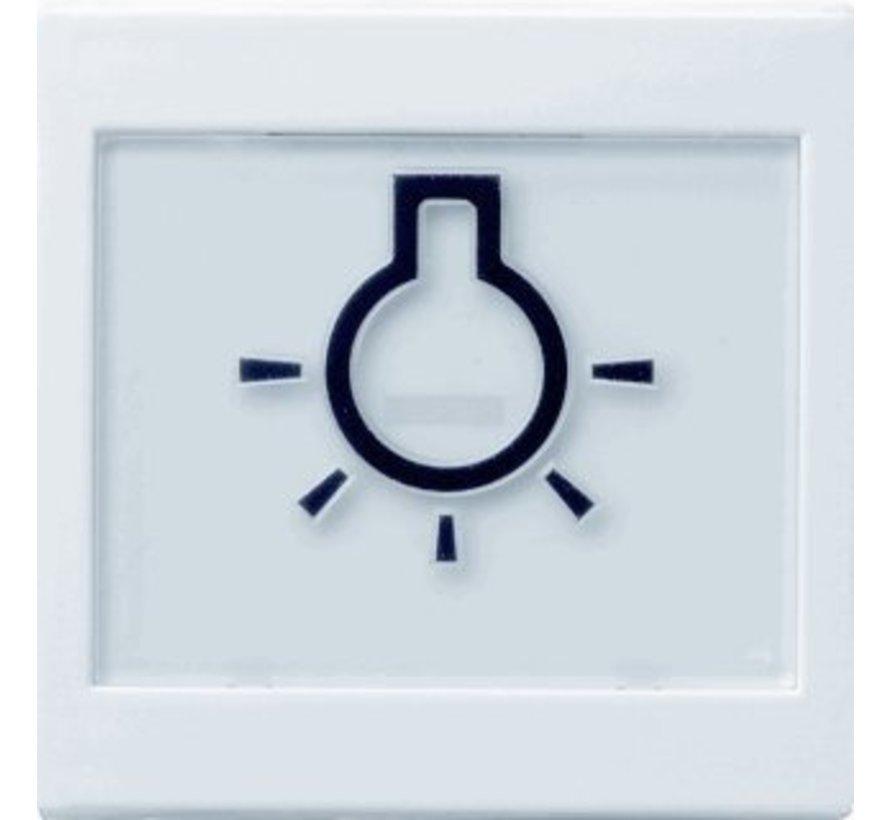 schakelwip tekstkader groot symbool licht Systeem 55 wit glans (021603)