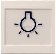 GIRA schakelwip tekstkader groot symbool licht Systeem 55 creme glans (021601)