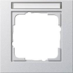 GIRA afdekraam 1-voudig tekstkader E2 aluminium mat (109125)