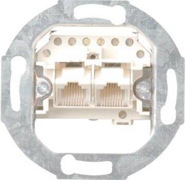 GIRA RJ45 telefoon wandcontactdoos CAT3 2-voudig enkel bedraad (018700)