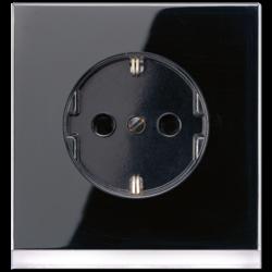 JUNG wandcontactdoos randaarde LED-orientatieverlichting LS990 zwart (LS 520-O SW LEDW)
