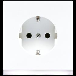 JUNG wandcontactdoos randaarde LED-orientatieverlichting LS990 alpine wit (LS 520-O WW LEDW)