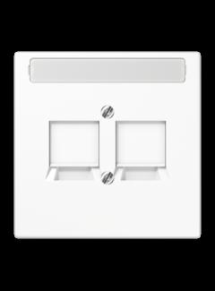 JUNG centraalplaat 2-voudig klep modular-jack LS990 alpine wit (LS 969-2 NWE WW)