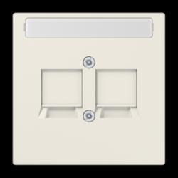 JUNG centraalplaat 2-voudig klep modular-jack LS990 creme (LS 969-2 NWE)