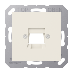 JUNG afdekking 1-voudig modulair jack + draagring AS500 creme (A 569-1 NWE)