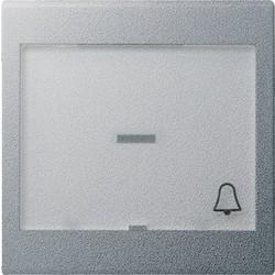 GIRA schakelwip controlevenster groot tekstkader symbool bel Systeem 55 aluminium mat (067926)