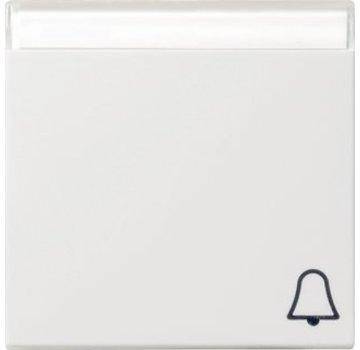 GIRA schakelwip tekstkader symbool bel Systeem 55 wit mat (067327)
