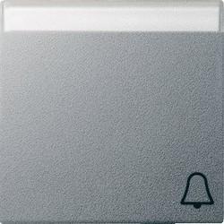 GIRA schakelwip tekstkader symbool bel Systeem 55 aluminium mat (067326)