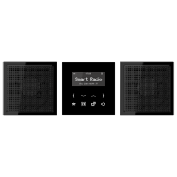 JUNG inbouwradio set LS990 zwart (RAD LS 928 SW)