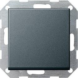 GIRA drukvlakschakelaar rechtstaand wisselschakelaar Systeem 55 antraciet mat (012128)