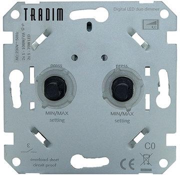 Tradim digitale duo dimmer voor LED (2496)