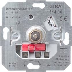 GIRA toerenregelaar met draaiuitschakelaar 0.1-2.7A (031400)