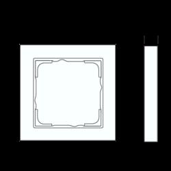 GIRA afdekraam 1-voudig tekstkader E2 antraciet mat (109123)