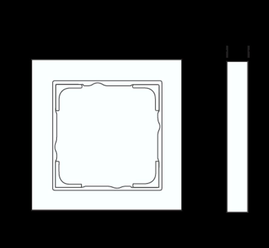 afdekraam 1-voudig tekstkader E2 antraciet mat (109123)