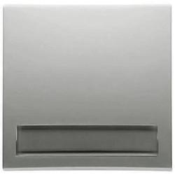 PEHA schakelwip enkel met tekstkader 600 serie Badora aluminium (11.640.70 NA)