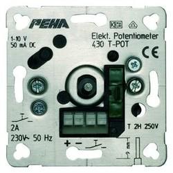 PEHA potentiometer met toetscontact (tast) 1-10 volt 50mA  (430 T-POT O.A.)