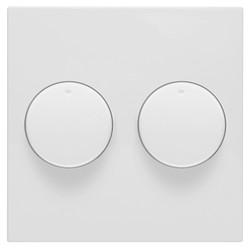 PEHA duo dimmerknoppen Badora wit glans (11.620.02 HR)