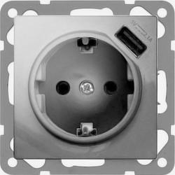 PEHA USB wandcontactdoos voor Nova - Standard, Dialog aluminium gelakt  (6511.70 SI USB)