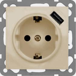 PEHA USB wandcontactdoos 2.1A Badora creme (11.6511.03 SI USB)
