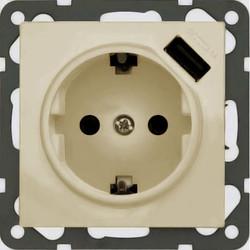PEHA USB wandcontactdoos voor Nova - Standard, Dialog creme (6511.03 SI USB)