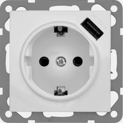 PEHA USB wandcontactdoos voor Nova - Standard, Dialog levend wit (6511.02 SI USB)