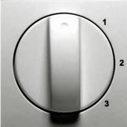 PEHA draaiknop driestandenschakelaar 1-2-3 Badora aluminium (11.610.70 S 123)