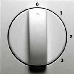 PEHA draaiknop driestandenschakelaar 0-1-2-3 Badora aluminium glans (11.610.70 S3)