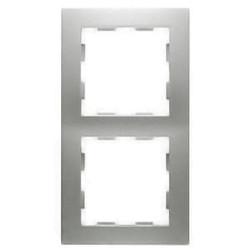 PEHA afdekraam 2-voudig Badora aluminium (11.572.70)