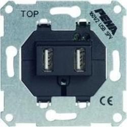 PEHA USB-lader 2-voudig type A 2x 700mA 5V (1601/2 USB SPV O.A.)