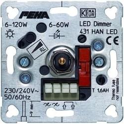 PEHA LED draai/druk dimmer fase aansnijding 6-60W (431 HAN LED O.A.)