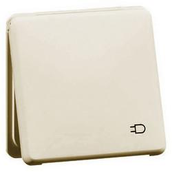 PEHA wandcontactdoos randaarde kindveilig met klapdeksel Standard creme (80.6511 K SI W)