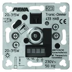 PEHA draai/drukknop dimmer 20-315W (433 HAB O.A.)