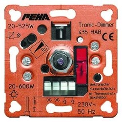 PEHA draai/drukknop dimmer 20-800W (439 HAB O.A.)
