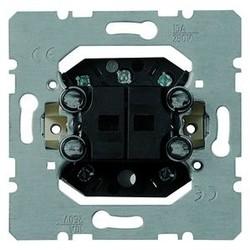 PEHA 2-voudig drukcontact terugverend 4 maakcontacten en nulstand (254 T)