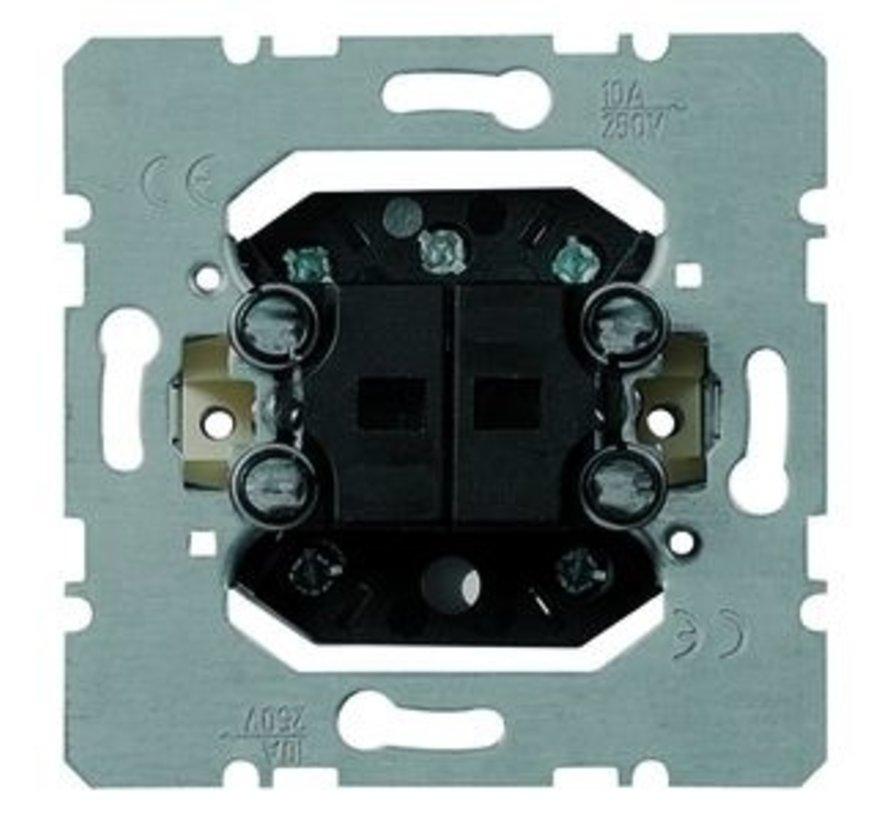 2-voudig drukcontact terugverend 4 maakcontacten en nulstand (254 T)