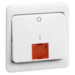 PEHA schakelwip met controlevenster groot en opdruk 1-0 Standard levend wit (80.642.02 N GLK)