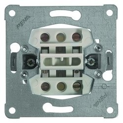 PEHA wissel-wisselschakelaar 2 gescheiden circuits met schroefcontact 10A (616/6)