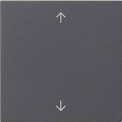 GIRA jaloezie/tastdimmerknop met pijlen Systeem 3000 Systeem 55 antraciet mat (536128)