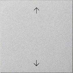 GIRA jaloezie/tastdimmerknop met pijlen Systeem 3000 Systeem 55 aluminium mat (536126)
