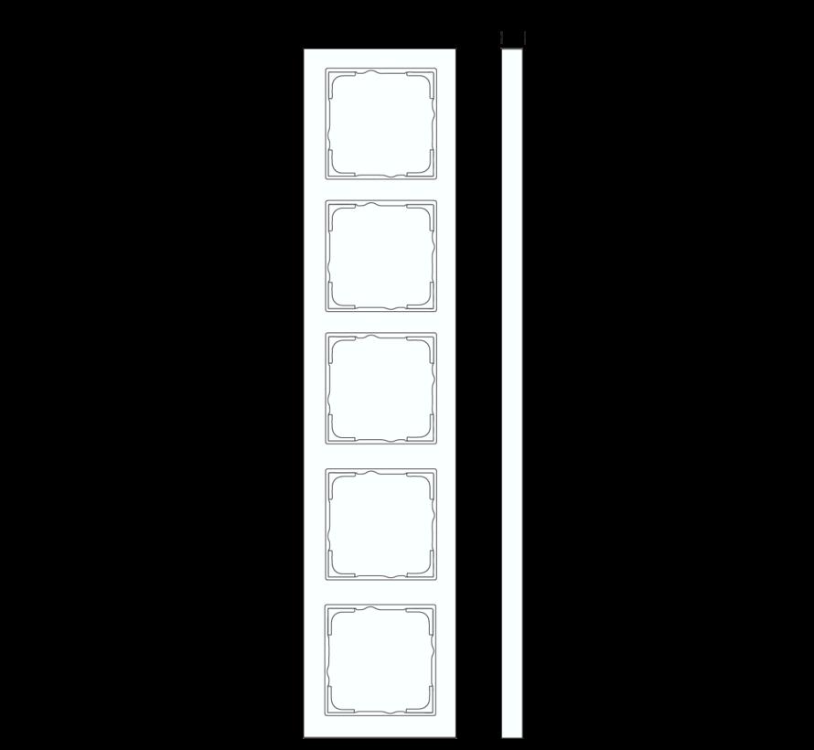 afdekraam 5-voudig verticaal tekstkader E2 wit mat (111522)