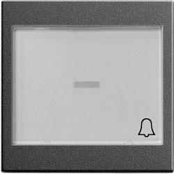 GIRA schakelwip controlevenster groot tekstkader symbool bel Systeem 55 antraciet mat (067928)