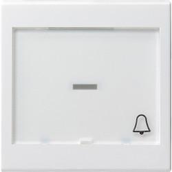 GIRA schakelwip controlevenster groot tekstkader symbool bel Systeem 55 wit mat (067927)